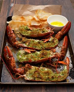 Garlic & Herbs Roasted Lobster - Tyler Florence <3