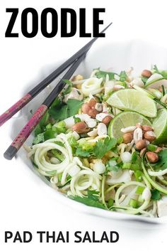 Pad Thai Salad is a light and refreshing take on the classic Thai ...