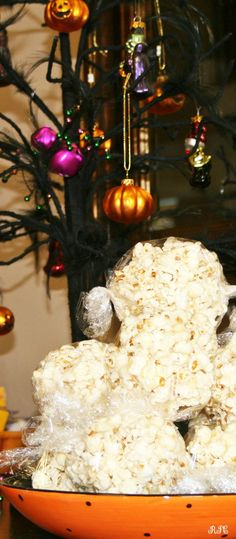 Popcorn Balls - We always made popcorn balls in the fall. They were a great treat to us when we got them. Perfect for Halloween! Recipes Food and Cooking