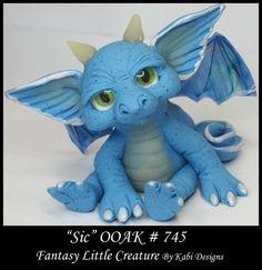 Fantasy Little Dragon DollHouse Art Doll Polymer Clay CDHM OOAK IADR Sic Mini #KabiDesigns