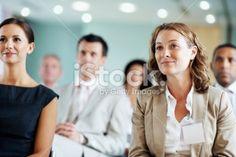 Business team at a seminar Royalty Free Stock Photo