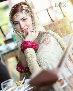 Nikkah Dress, Shadi Dresses, Indian Dresses, Latest Bridal Dresses, Desi Wedding Dresses, Perfect Bride, Beautiful Bride, Perfect Wedding, Pakistani Bridal Makeup Hairstyles