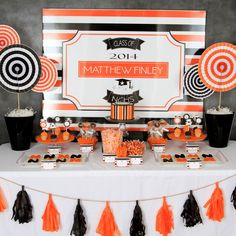 Graduation Party 2014, orange and black