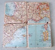 Simple Coasters. (Hodge Podge [Varnish] and Cork). Memories/Eclectic