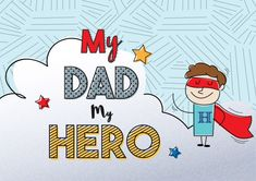 My dad is my hero, for fathers day | Premium Vector #Freepik #vector #background #abstract #card #love Fathers Day Photo, Happy Fathers Day, My Dad My Hero, Daddy Day, Father's Day Diy, Special Day, Diy And Crafts, Dads, Instagram
