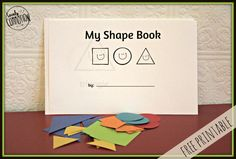 toddler shape book free printable.