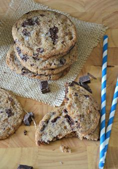 Salted Whole Wheat Chocolate Chunk & Toffee Cookies