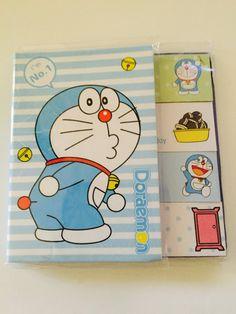 Doraemon Sticky Note Flags & Pad Set by GoatGirlMH on Etsy