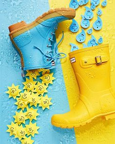 Turquoise and yellow Yellow Turquoise, Yellow Art, Mellow Yellow, Blue Yellow, Aqua, Yellow Boots, Still Life Photography, Color Photography, Product Photography