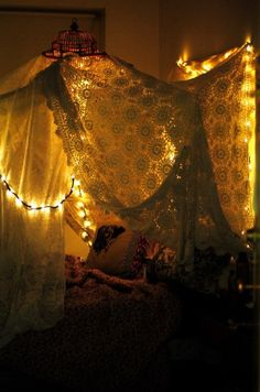 themoonphase:  Come lay with me in my twinkling lace covered wonderland n' tell me a story or two. Stimulate my imagination, and the rest of me will follow…  ~Charlotte (PixieWinksFairyWhispers)