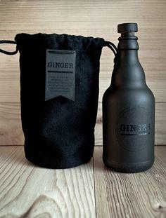 Black packaging by Eliane Cadieux for Ginger Tea / on TTL Design