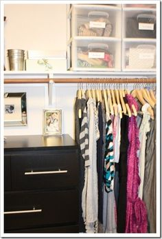 Master Bedroom Closet Makeover - A Thoughtful Place Dresser In Closet, Ikea Malm Dresser, Bed In Closet, Master Bedroom Closet, One Bedroom, A Thoughtful Place, Bedroom Storage, Home Organization, Home And Living