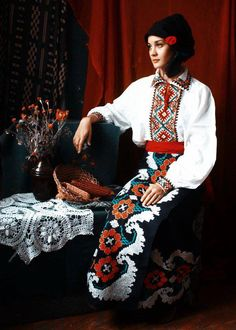 Portrait of Romanian girl in traditional attire Romanian Gypsy, Folk Costume, Costumes, Bulgaria, Ukraine, Ethno Style, Folk Clothing, Ethnic Dress, People Of The World