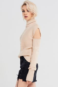 Rachel Detachable Sleeves Pullover Discover the latest fashion trends online at storets.com