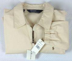 RALPH-LAUREN-Jacket-MENS-L-Chino-NWT-Full-Zip-KHAKI-Long-Sleeve-GOLF-Lightweight