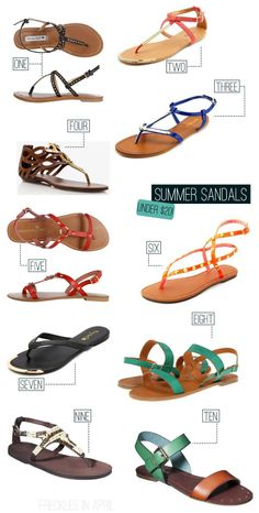 I've put myself on a shopping freeze for a while with one exception: I am in dire need of a new pair of summer sandals. Summer Feet, Summer Shoes, Summer Sandals, Flip Flop Sandals, Shoes Sandals, Keds Shoes, Flats, Colorful Fashion, Shoe Game