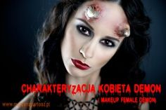 charakteryzacja, demon, makeup demon, makeup artist