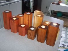 Candle holders - by Gene @ LumberJocks.com ~ woodworking community