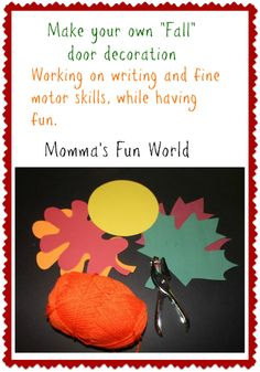 Momma's Fun World: Make your own Fall door decoration
