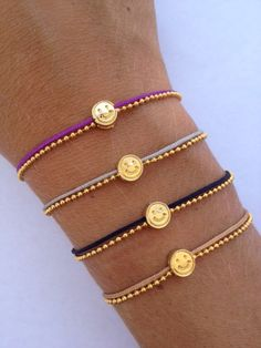The Happy Face Frienship Bracelet available in many by IzouBijoux, €7.00