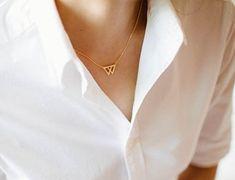 collier geometrique fleche