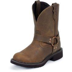 Justin Ladies Bay Apache Harness Boot