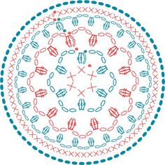 I love crochet pattern charts, don' Here's a lovely one called Flower Power from Toma Creations. Check via the link for a tutorial how-to. Crochet Coaster Pattern, Crochet Mandala Pattern, Crochet Diagram, Crochet Stitches Patterns, Doily Patterns, Crochet Chart, Pattern Flower, Crochet Diy, Crochet Round