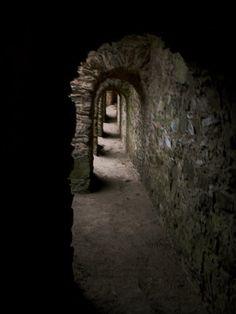 castle hallway dark castles gothic hallways dungeon medieval stone corridor abandoned place norwood welsh fairy secret shadow