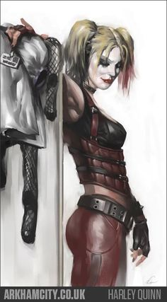 A great poster of Harley Quinn - foe of Batman and one of the hottest additions to the DC Comics Universe! Check out the rest of our excellent selection of Harley Quinn posters! Dc Comics, Comics Girls, Batman Arkham City, Gotham City, Batman Arkham Knight, Marvel Dc, Heroine Marvel, Harley Quinn Et Le Joker, Harley Batman