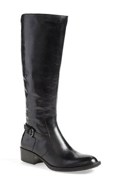 Free shipping and returns on Børn 'Helen' Boot (Women) at Nordstrom.com. A wraparound buckled strap and a low stacked heel maintain the timeless look of a round-toe boot in burnished full-grain leather. Børn's signature Opanka construction ensures a flexible, lightweight fit that's just as comfortable year after year.