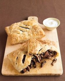Our flaky stuffed pastries are a vegetarian main that's easy and elegant. Store-bought puff pastry makes quick work of these savory turnovers that require only five ingredients.