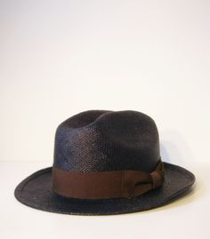 Navy Blue Panama Summer Hat e2702653a22c