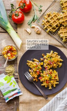 Not all waffles need to be smothered in syrup, covered with whipped cream and followed by a sugar coma nap. Switch out of the typical waffle routine with this Gluten Free Savory Herb Waffle!
