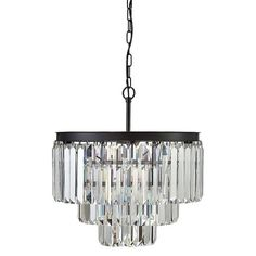 Round Crystal Chandelier with 9 Lights - Black : Target