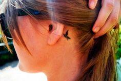 tattoos delicada atrás da orelha - Pesquisa Google