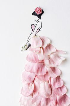 Sassy du Fleur Autumn Style Inspiration: by Georgie St Clair on Paper Fashion, Fashion Art, Drawing Fashion, Mode Poster, Fashion Illustration Dresses, Newspaper Art, Pressed Flower Art, Fashion Design Sketches, Arte Floral