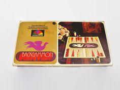 Vintage 1975 Backgammon Game Board Game by JandDsAtticTreasures