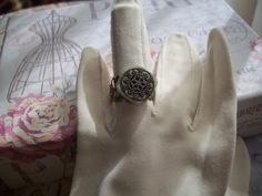 Ring  button  adjustable by aPrairiePeddler on Etsy, $9.00