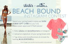 LuLu*s x O'Neill Beach Bound Instagram Contest! at LuLus.com!