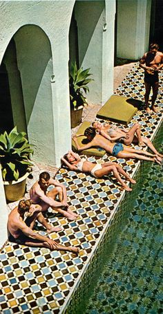 1964 poolside of York Castle. Photo from Look magazine, January 1964.