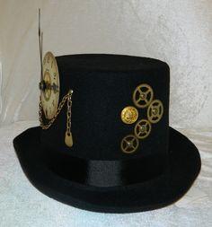 Gothic STEAMPUNK Top Hat VICTORIAN Top Hat COACHMAN by Georgea2z, $59.99