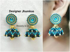 Designer Silk Thread Earrings | Tutorial - YouTube