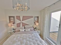 Dusky Pink and Ivory Bedroom