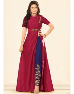 Drashti Dhami Raspberry Pink #Pant #Kameez Set