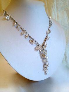 Shimmering Crystal Illusion Y Necklace