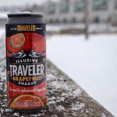 Traveler Grapefruit Shandy. 16oz. cans.