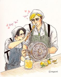 "ongzori: ""When life gives you lemons, make marmalade~ based on this and reference pics of making marmalade """