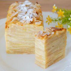 Japanese Sweets, Japanese Food, Waffle Cake, Crepe Cake, Brownie Cake, Happy Foods, Cafe Food, Brownie Recipes, Pound Cake