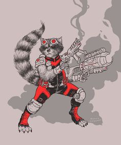 Rocket Raccoon by Ramon Villalobos *