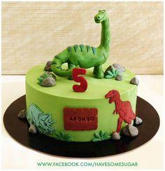 Dinosaurs - Cake by Margarida Abecassis Dinosaur Birthday Cakes, 4th Birthday Cakes, Dinosaur Party, Bolo Fondant, Dino Cake, Dinosaur Cake Pops, Cakes For Boys, Savoury Cake, Party Cakes